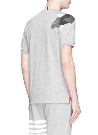 背面 - 点击放大 - THOM BROWNE - 拼贴锦鲤纯棉T恤