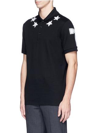 正面 -点击放大 - GIVENCHY BEAUTY - 五角星数字图案纯棉POLO衫