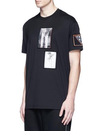 正面 -点击放大 - GIVENCHY - 星条旗及树枝拼贴装饰纯棉T恤