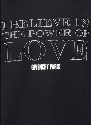 细节 - 点击放大 - GIVENCHY - 标语印花纯棉T恤