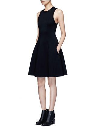 模特儿示范图 - 点击放大 - alexanderwang.t - 单色混棉连衣裙