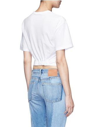 背面 - 点击放大 - ALEXANDERWANG.T - 扭结装饰纯棉T恤