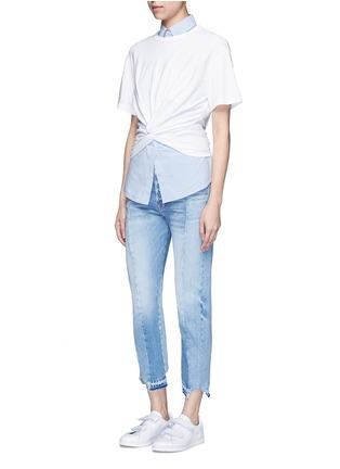 模特儿示范图 - 点击放大 - ALEXANDERWANG.T - 扭结装饰纯棉T恤