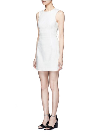 正面 - 点击放大 - T BY ALEXANDER WANG - 单色棉质丹宁连衣裙