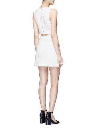 模特示范图 - 点击放大 - T BY ALEXANDER WANG - 单色棉质丹宁连衣裙