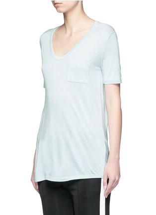 正面 -点击放大 - ALEXANDERWANG.T - CLASSIC单色胸袋T恤
