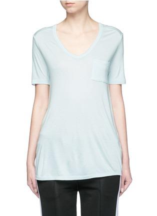 首图 - 点击放大 - ALEXANDERWANG.T - CLASSIC单色胸袋T恤