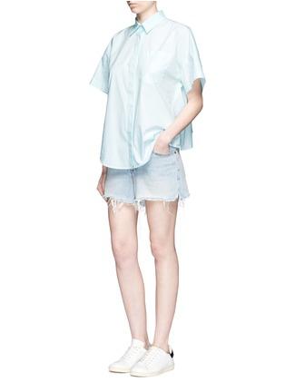 模特儿示范图 - 点击放大 - ALEXANDERWANG.T - 单色纯棉府绸衬衫