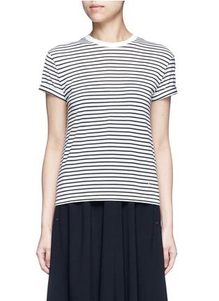 首图 - 点击放大 - T BY ALEXANDER WANG - 拼色条纹弹力T恤