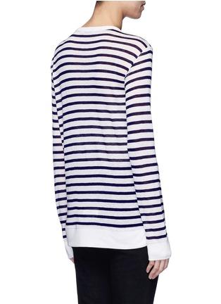 背面 - 点击放大 - T BY ALEXANDER WANG - 条纹长袖T恤