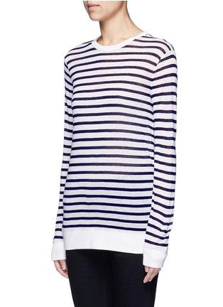正面 -点击放大 - T BY ALEXANDER WANG - 条纹长袖T恤
