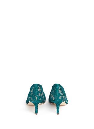 背面 - 点击放大 - DOLCE & GABBANA - 施华洛世奇仿水晶装饰蕾丝中跟鞋