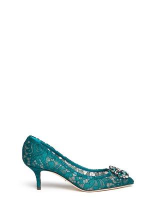 首图 - 点击放大 - DOLCE & GABBANA - 施华洛世奇仿水晶装饰蕾丝中跟鞋