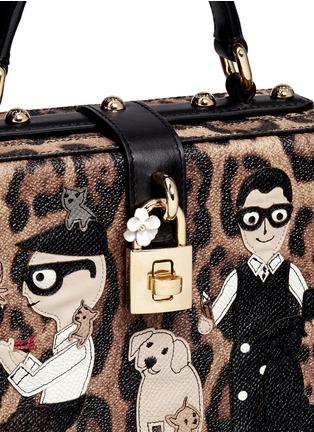 细节 - 点击放大 - DOLCE & GABBANA - Dolce Box DG Family拼贴装饰豹纹手提包