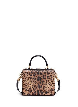 背面 - 点击放大 - DOLCE & GABBANA - Dolce Box DG Family拼贴装饰豹纹手提包