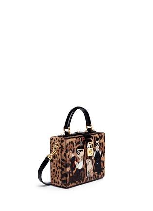 模特儿示范图 - 点击放大 - DOLCE & GABBANA - Dolce Box DG Family拼贴装饰豹纹手提包