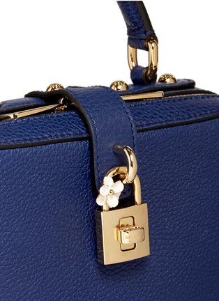 细节 - 点击放大 - DOLCE & GABBANA - Miss Rosalia荔枝纹真皮手提包