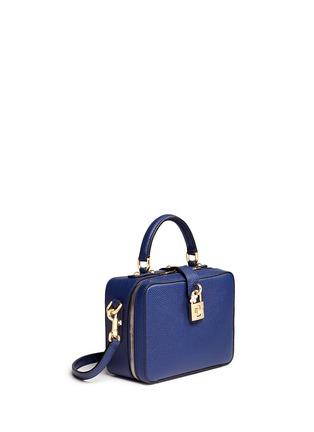 模特示范图 - 点击放大 - DOLCE & GABBANA - Miss Rosalia荔枝纹真皮手提包