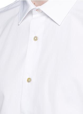 细节 - 点击放大 - Paul Smith - 彩色条纹拼接纯棉衬衫