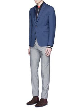 模特儿示范图 - 点击放大 - PAUL SMITH - 单色羊毛混马海毛西服外套