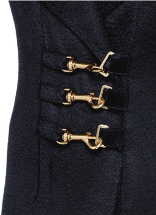 细节 - 点击放大 - ESTEBAN CORTAZAR - 按扣翻领羊绒长大衣