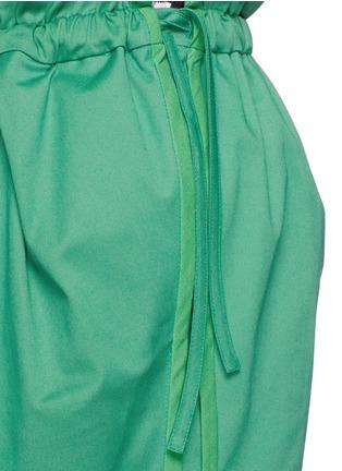 细节 - 点击放大 - PORTS 1961 - 荷叶边装饰纯棉短裤