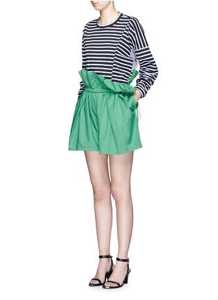 模特示范图 - 点击放大 - PORTS 1961 - 荷叶边装饰纯棉短裤