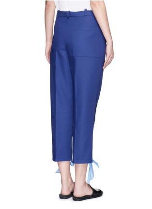 背面 - 点击放大 - PORTS 1961 - 拉链蝴蝶结装饰纯棉七分裤