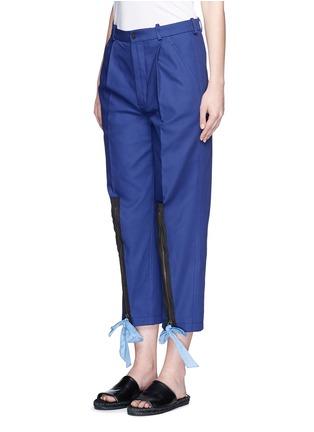 正面 - 点击放大 - PORTS 1961 - 拉链蝴蝶结装饰纯棉七分裤