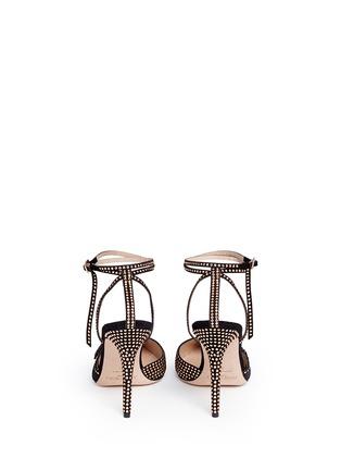 背面 - 点击放大 - JIMMY CHOO - KIZZY铆钉装饰麂皮拼网眼高跟鞋