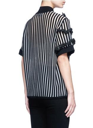 背面 - 点击放大 - OPENING CEREMONY - 荷叶边竖纹混羊毛针织衫