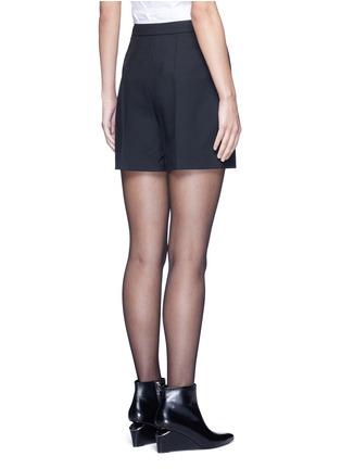 背面 - 点击放大 - ALEXANDER WANG - 箱形褶裥混羊毛短裤
