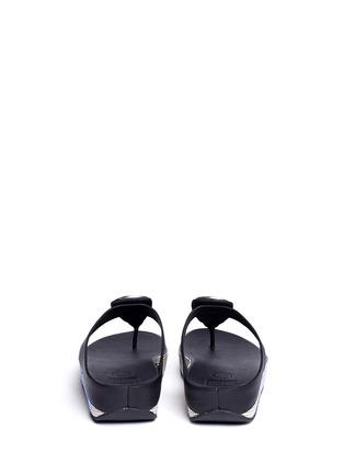 背面 - 点击放大 - FITFLOP - 人造珠宝装饰坡跟凉鞋