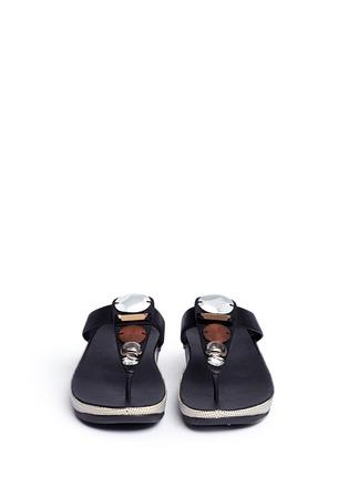 正面 - 点击放大 - FITFLOP - 人造珠宝装饰坡跟凉鞋