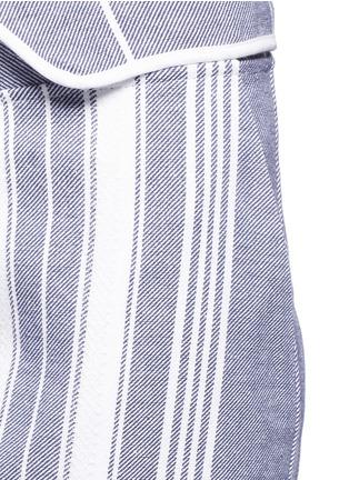 细节 - 点击放大 - KOZA - Brooke梭织条纹纯棉九分裤