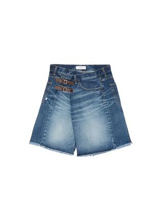 首图 - 点击放大 - FACETASM - 水洗搭带须边牛仔短裤