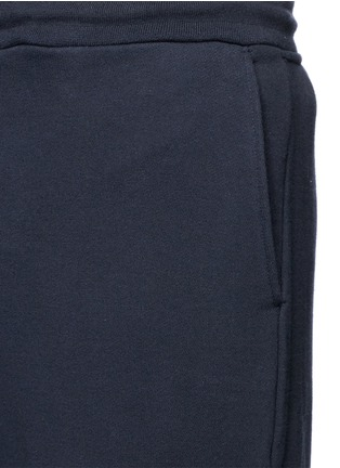 细节 - 点击放大 - THOM BROWNE - 条纹纯棉运动裤