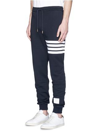 正面 - 点击放大 - THOM BROWNE - 条纹纯棉运动裤