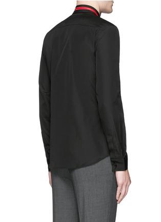 背面 - 点击放大 - GIVENCHY - 条纹五角星刺绣纯棉衬衫