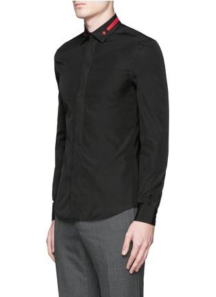 正面 -点击放大 - GIVENCHY - 条纹五角星刺绣纯棉衬衫