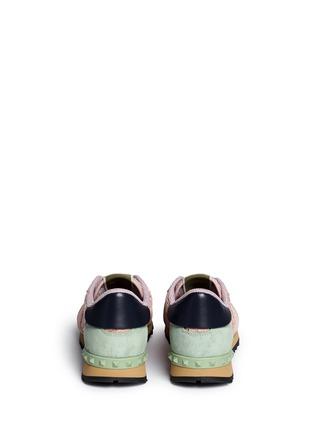 背面 - 点击放大 - VALENTINO - 蕾丝拼贴橡胶铆钉低筒运动鞋