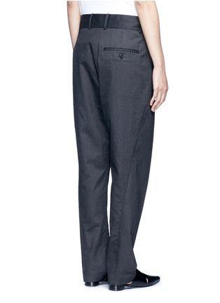 - FFIXXED STUDIOS - 中性款褶裥设计低裆长裤
