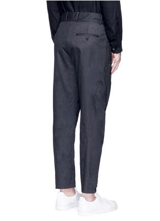 背面 - 点击放大 - FFIXXED STUDIOS - 中性款褶裥设计低裆长裤