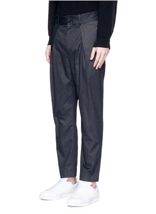 正面 -点击放大 - FFIXXED STUDIOS - 中性款褶裥设计低裆长裤