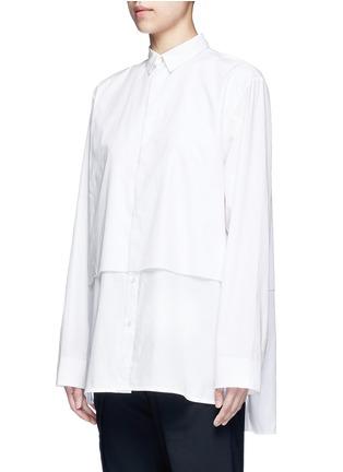 细节 - 点击放大 - FFIXXED STUDIOS - 中性款单色双层纯棉衬衫