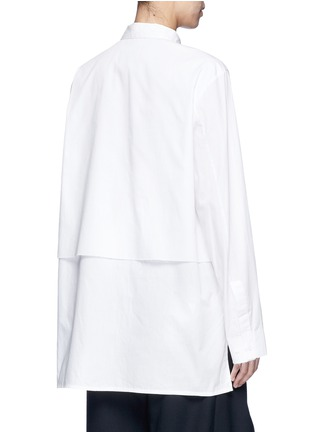 - FFIXXED STUDIOS - 中性款单色双层纯棉衬衫