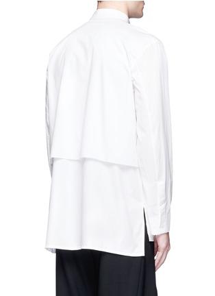 背面 - 点击放大 - FFIXXED STUDIOS - 中性款单色双层纯棉衬衫