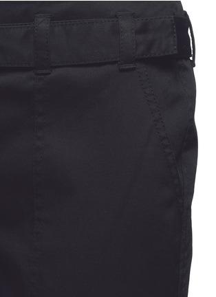 细节 - 点击放大 - 3.1 PHILLIP LIM - 单色卷边棉质八分裤