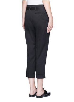 背面 - 点击放大 - 3.1 PHILLIP LIM - 单色卷边棉质八分裤