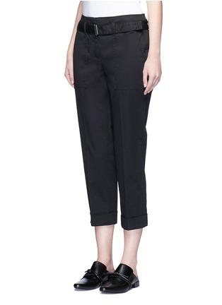 正面 - 点击放大 - 3.1 PHILLIP LIM - 单色卷边棉质八分裤